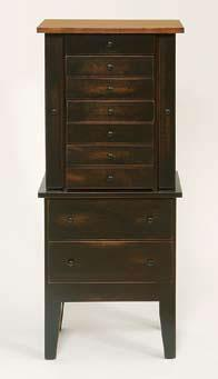 Amish Cherry Wood Jewelry Armoire