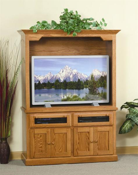Amish Shaker Entertainment Center with Raised Panel Doors