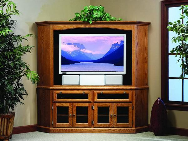 Amish Shaker Corner Entertainment Center