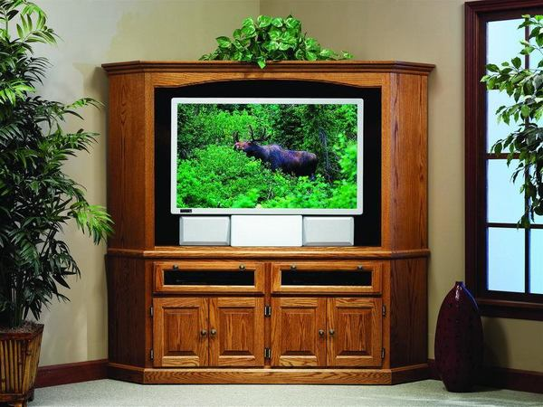 Amish Traditional Corner Entertainment Center