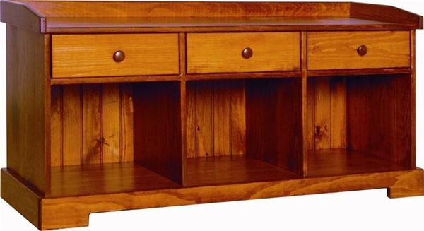 Amish Cottage Style Pine Storage Bench