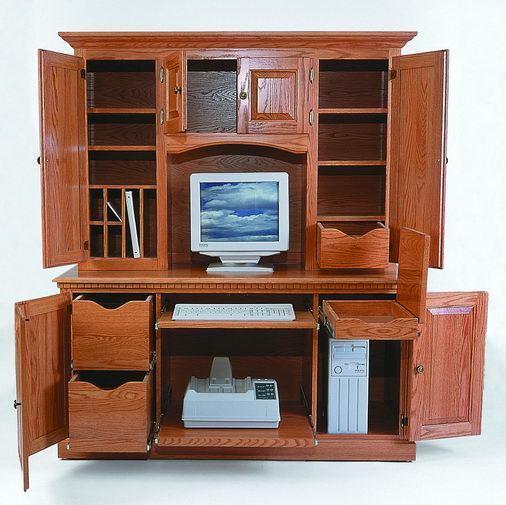 Amish Computer Credenza Desk