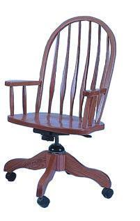 Amish Bent Feather Office Desk Chair
