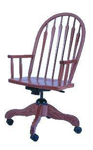 Amish Arrow Back Office Desk Chair