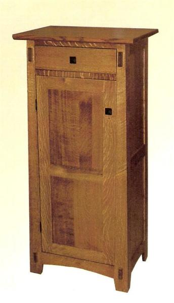Amish Arts & Crafts Jelly Cabinet