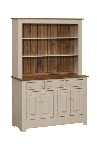 Pine Farmhouse 50 Quot Open Hutch From Dutchcrafters Amish
