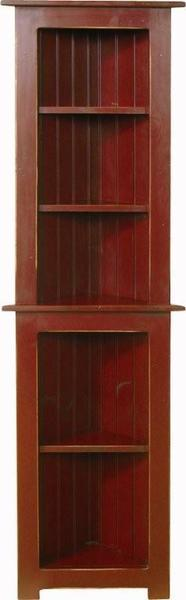 Amish Small Pine Corner Hutch