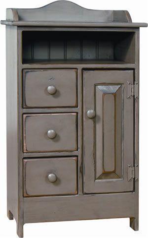 Amish Pine Storage Cabinet