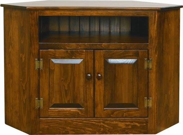 Amish Pine Corner TV Stand