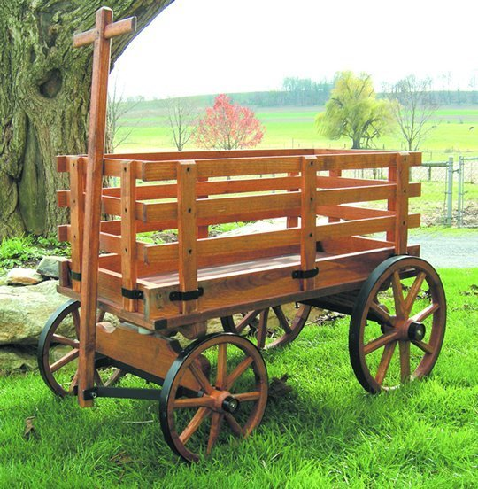 Amish Old Fashioned Buckboard Wagon Jumbo Premium