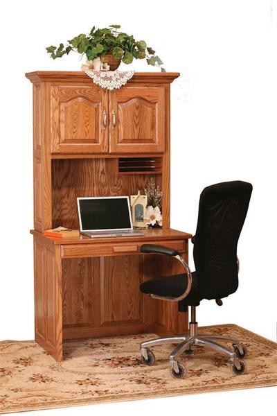 Amish Flat Top Computer Desk with Hutch Top 36""