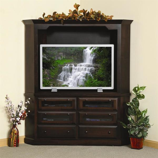Amish Deluxe Shaker Corner Plasma Entertainment Center