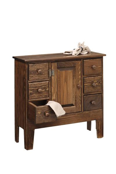 Amish Pine Wood Catch All Cabinet