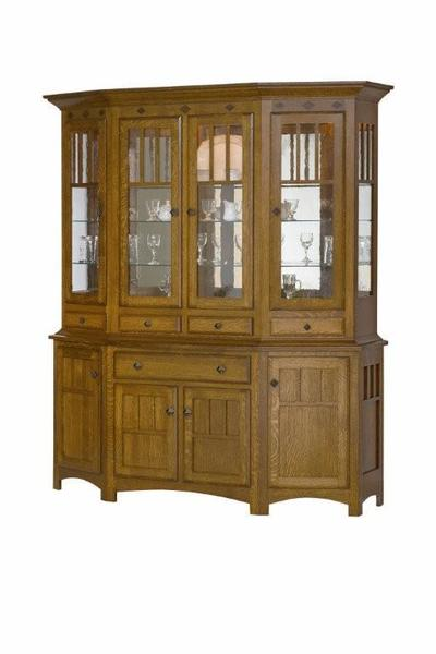 Amish Royal Mission Canted Front Hutch
