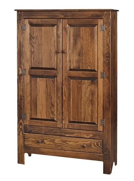 Amish Deluxe Pine Wood Pie Safe With Drawer