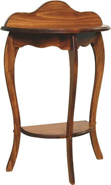 Amish Half Round French Country Pine Wood End Table