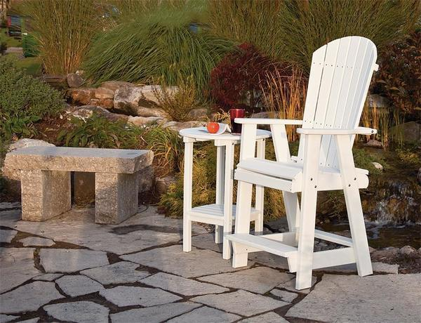 Amish Poly Double Tier Outdoor Bistro Table