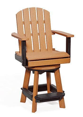Amish Poly Patio Swivel Pub Chair