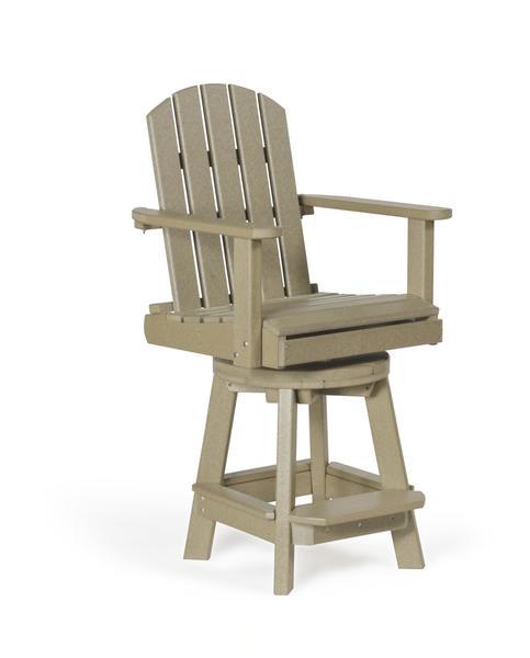 Amish Polywood Patio Swivel Pub Chair