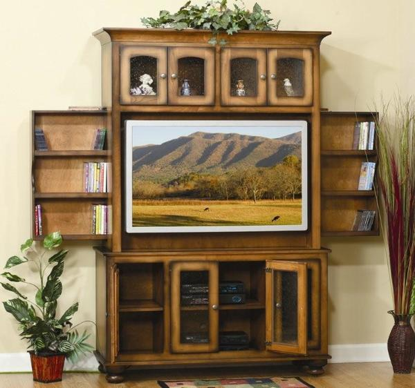 "Amish Cable Mill 58"" Flat Screen Mount Entertainment Center"
