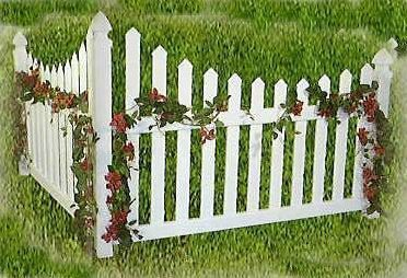 Amish Vinyl Clic Country Corner Picket Accent Fence
