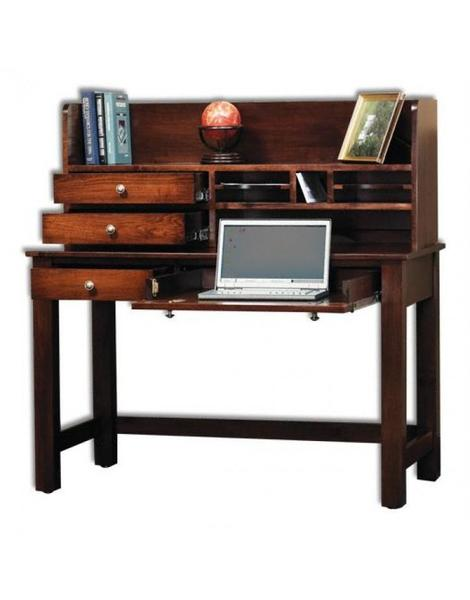 Amish Rivertowne Petite Desk with Hutch Top