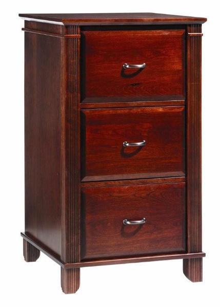 Amish Arlington Executive 3 Drawer File Cabinet