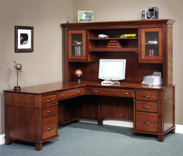 Genial Amish Arlington Executive L Desk