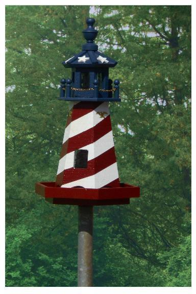 Amish Lighthouse Bird Feeder