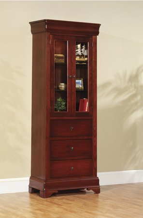 Amish Louis Philippe Side Bookcase with Drawers