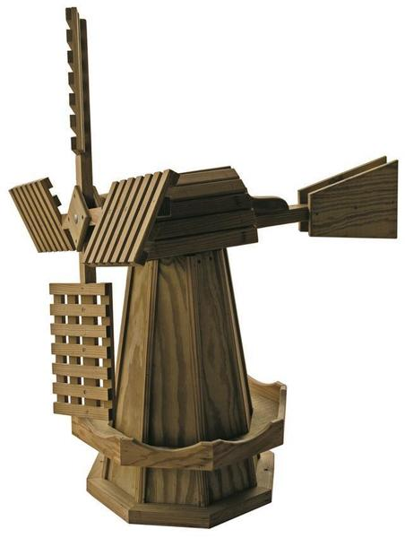LuxCraft Large Pine Dutch Garden Windmill