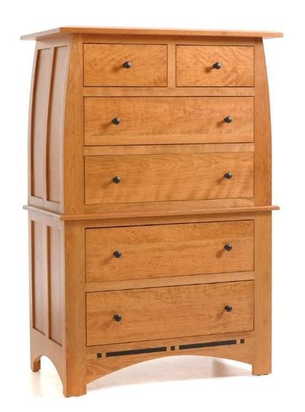 Amish Vineyard Deluxe Chest on Chest of Drawers