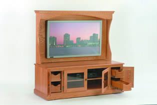 "Amish 59"" TV Stand with Plasma Back"