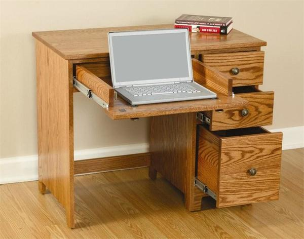 Amish Economy Desk with Drawers - Quick Ship