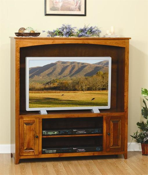 Amish Economy Entertainment Center with Raised Panel Doors - Quick Ship