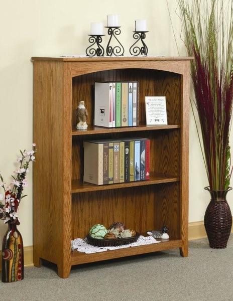Amish Medium Economy Bookcase - Quick Ship