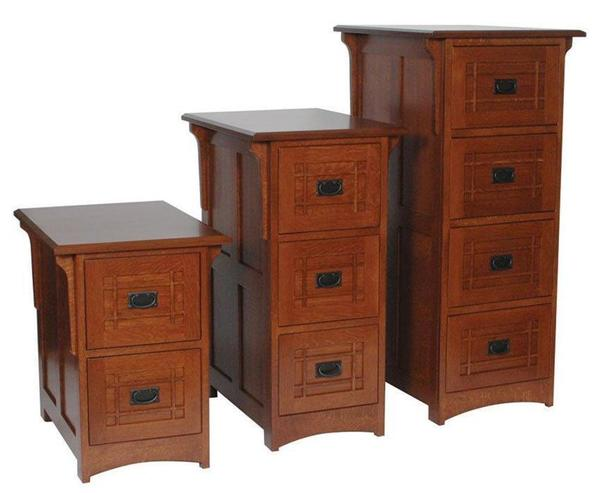 Amish Lincoln File Cabinet Choose From Three Sizes