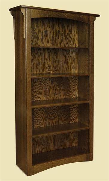 Amish Lincoln Bookcase with Optional Bottom Doors