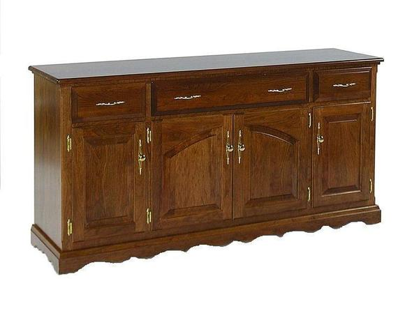 Amish Queen Anne solid Wood Deluxe Buffet - Lifetime Warranty