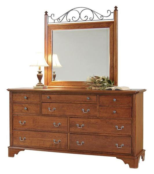 Amish Early American Triple Dresser