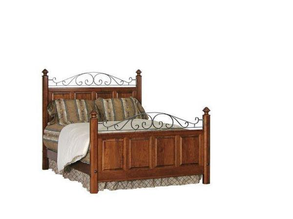 Amish Early American Iron Panel Bed
