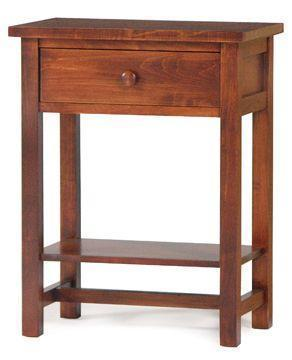 Amish Modern Shaker Night Stand with Shelf