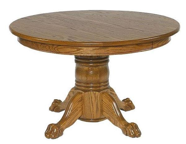 "Amish 48"" Round Single Pedestal Dining Table"