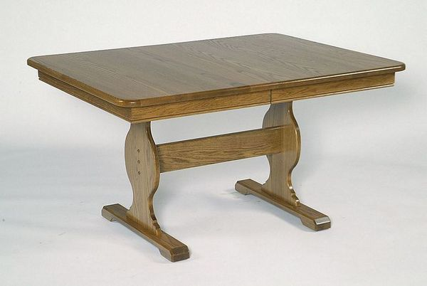 Solid Wood Trestle Dining Table From Dutchcrafters Amish Furniture