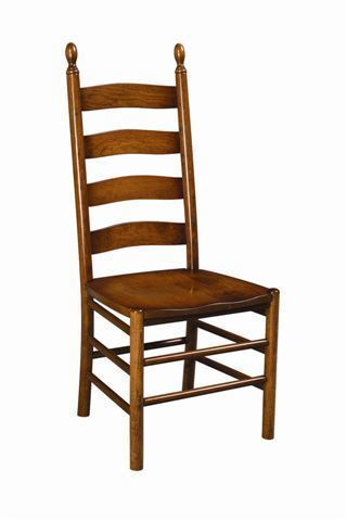 Amazing Amish Galloway Shaker Ladder Back Chair Beutiful Home Inspiration Cosmmahrainfo