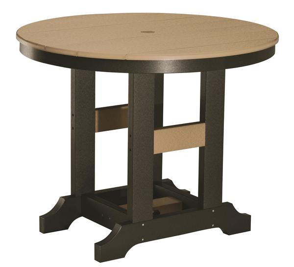 "Berlin Gardens 38"" Round Classic Dining Poly Patio Table"