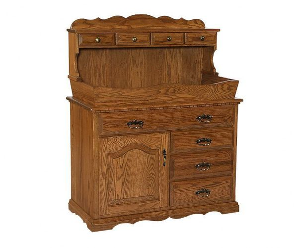 Amish Solid Wood Dry Sink Bar