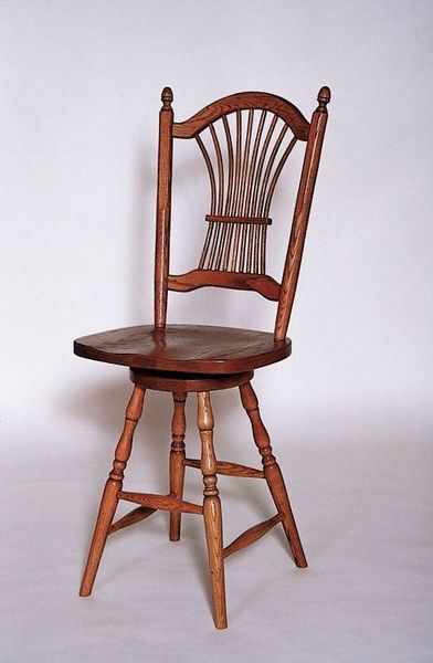 Amish Sheaf Back Swivel Bar Stool