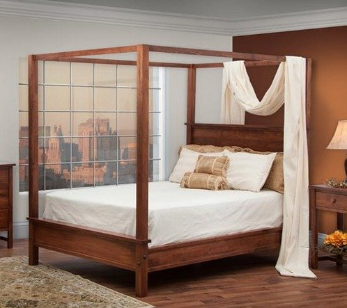 modern canopy bed from dutchcrafters amish furniture. Black Bedroom Furniture Sets. Home Design Ideas