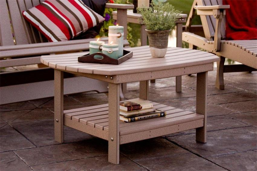 Amish Outdoor Accent Tables | Poly Coffee Tables
